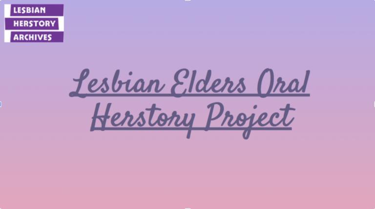 Image of Lesbian Elders Oral History Project logo